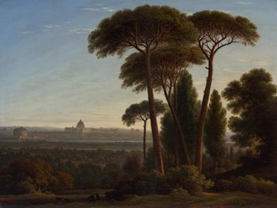 Rome with St. Peter's and the Castel Sant'Angelo, C.1821 by John Glover
