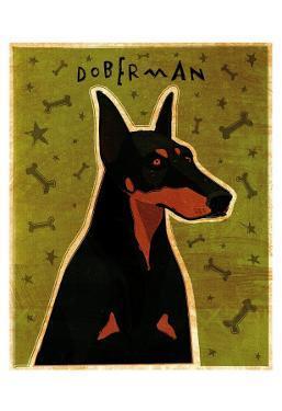 Doberman by John Golden