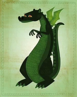 Green Dragon by John Golden