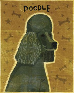 Poodle (black) by John Golden