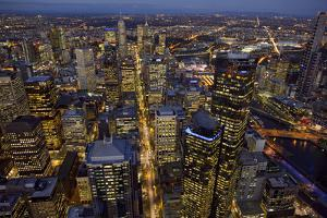 Aerial View of Melbourne by John Gollings