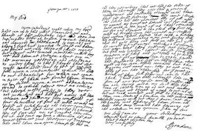 A Letter from Graham of Claverhouse, Viscount Dundee, 1629