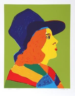 Girl with Hat I by John Grillo