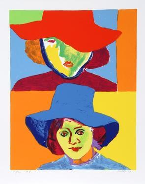 Girl with Hat III by John Grillo