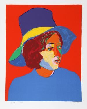 Girl with Hat VI by John Grillo