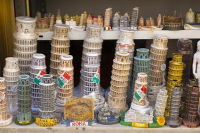 Souvenirs of the Leaning Tower of Pisa (Torre Pendente) and of Roma, Pisa, Tuscany, Italy, Europe by John Guidi