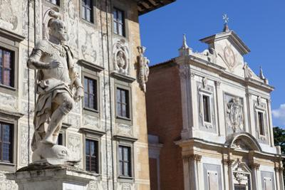 Statue of Cosimo I, The Knight's Palace, and The Church of Saint Stephen of The Knights, Piazza dei by John Guidi