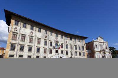 The Knight's Palace and The Church of Saint Stephen of The Knights, Piazza dei Cavalieri, Pisa, Tus by John Guidi