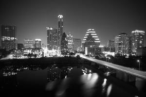 Austin Skyline 2010 B/W by John Gusky