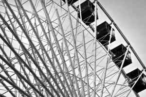 Ferris Wheel Bw by John Gusky