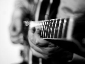 Jazz Guitarist 1 BW by John Gusky