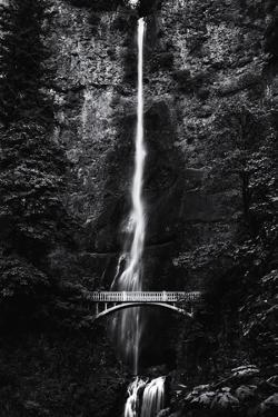 Multnomah Falls 1 mono by John Gusky