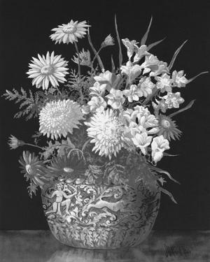 Pyrethrums and Freesias by John Halford Ross