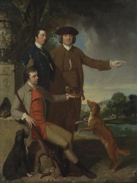 Self Portrait with Father and Brother, C.1760-62 by John Hamilton Mortimer