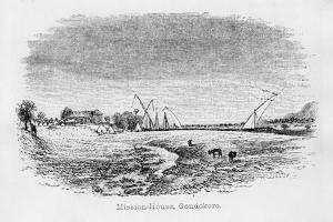 Misson-House, Gondokoro, from 'Journal of the Discovery of the Source of the Nile', 1864 by John Hanning Speke