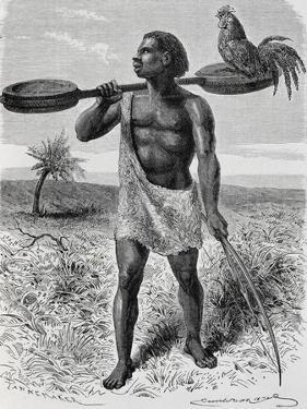Myamuezi, Native from Unyamuezy, Engraving from Journal of Discovery of the Sources of Nile by John Hanning Speke
