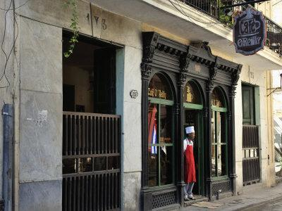 Cafe O'Reilly, Established 1893, in Calle O'Reilly in Havana's Historic Centre, Old Havana (Habana