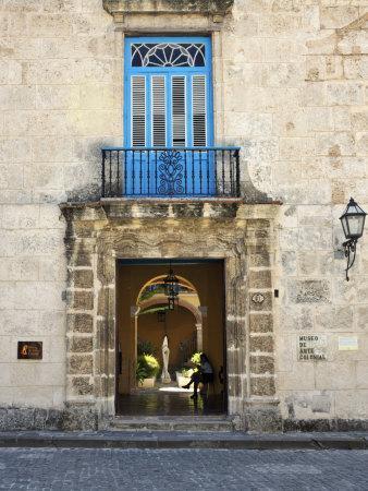 Entrance of Casa Del Conde De Casa Bayona, Now the Museum of Colonial Art, Old Havana, Cuba
