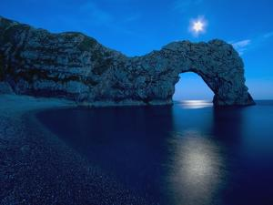 Durdle Door Arched Rock Formation on the Dorset coast by John Harper