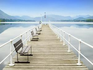 Pier on Ullswater in Lake District National Park by John Harper