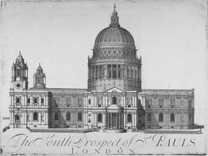 South View of St Paul's Cathedral, City of London, 1720 by John Harris