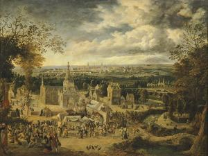 View of London and its Surroundings, England 18th Century by John Harris Valda