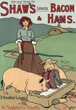 Bacon and Ham Advert by John Hassall