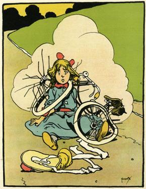 Bicycle, Girl Falls Off by John Hassall