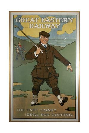 'The East Coast, Ideal for Golfing', Great Eastern Railway poster, early 1920s
