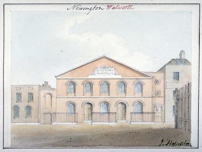 Beresford Chapel, Beresford Street, Southwark, London, 1824