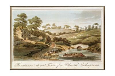 Entrance to Blisworth Tunnel, Grand Junction Canal, Northamptonshire, 1819. Artist: John Hassell