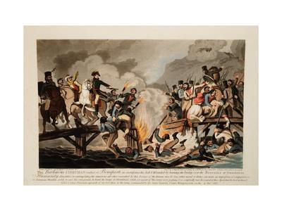 French Army Crossing the Berezina in November 1812, 1813