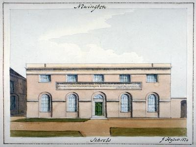 United Parochial National Charity and Sunday Schools, Newington Butts, Southwark, London, 1824