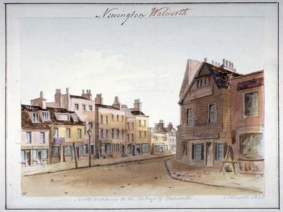 View of Walworth Village, Southwark, from the North Entrance, London, 1825