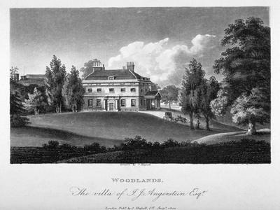 View of Woodlands House, Blackheath, Greenwich, London, 1804