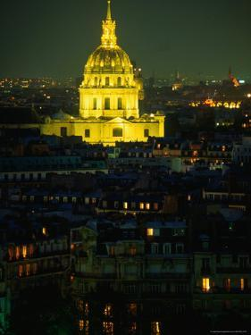 Napoleon's Tomb, in Eglise Du Dome of Hotel Des Invalides, at Night Paris, France by John Hay