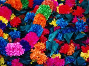 Paper Floral Garlands, Rajasthan, India by John Hay