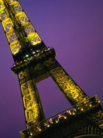 The Eiffel Tower at Night, Paris, France by John Hay
