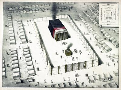 The Tabernacle in the Wilderness, and Plan of the Encampment, Published 1850