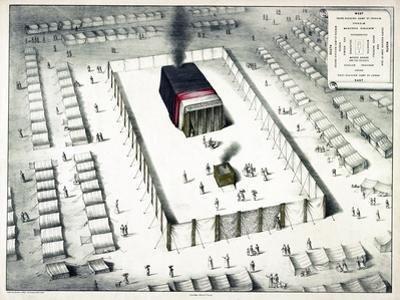 The Tabernacle in the Wilderness, and Plan of the Encampment, Published 1850 by John Henry Camp