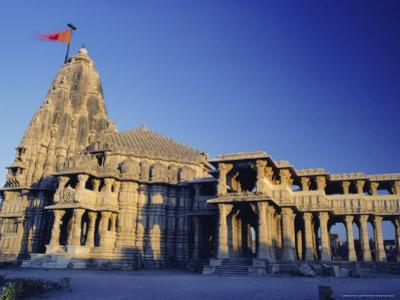 Hindu Temple of Somnath, One of the Twelve Most Sacred Siva Temples, Somnath, Gujarat State, India by John Henry Claude Wilson