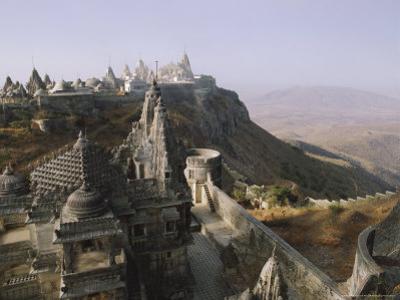 Jain Holy Hill and Temple Complex, Mount Girnar, Junagadh (Junagarh), Gujarat, India by John Henry Claude Wilson