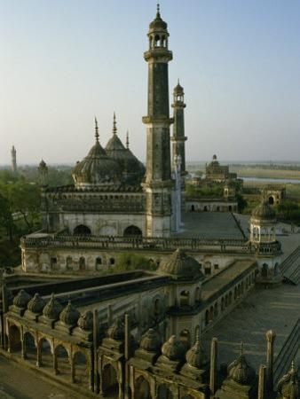 Mosque in Grounds of the Bara Imambara, Lucknow, India by John Henry Claude Wilson