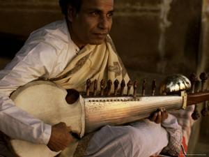 Sarod Player, India by John Henry Claude Wilson