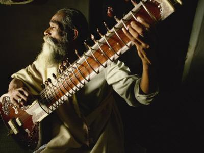 Sitar Player, India by John Henry Claude Wilson