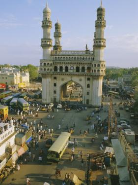 The Char Minar (Charminar) Triumphal Arch in Hyderabad, Andhra Pradesh, India by John Henry Claude Wilson