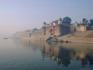 The Ganga (Ganges) River Waterfront, Varanasi (Benares), Uttar Pradesh State, India by John Henry Claude Wilson