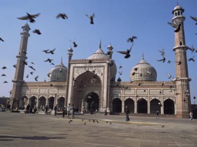 The Jama Masjid (Friday Mosque), Old Delhi, Delhi, India by John Henry Claude Wilson