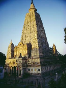 The Mahabodi Temple at Bodh Gaya, Where the Buddha Attained Enlightenment, Bihar State, India by John Henry Claude Wilson