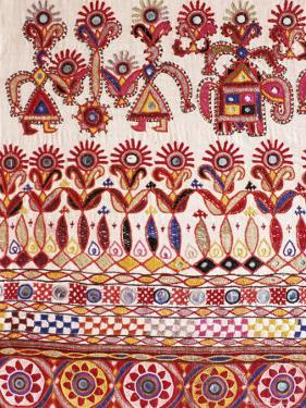 Traditional Rabari Tribal Embroidered Fabrics, Kutch, Gujarat State, India by John Henry Claude Wilson